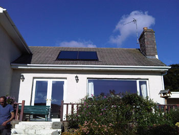 Two panel  roof integrated flat plate system in Auchenblae